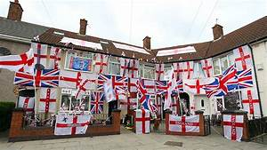 Fanatical football fans fly flag for England - in pictures