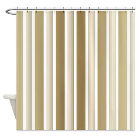 beige gradient stripes shower curtain kawelamolokai