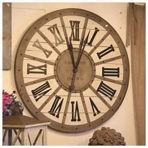 Grande Horloge Industrielle : horloge gare metal bois murale style industriel 93 cm m taux et horloge ~ Teatrodelosmanantiales.com Idées de Décoration