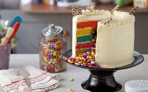 rainbow pinata cake bake  stork