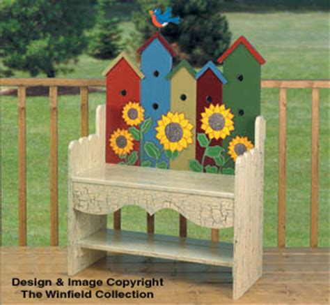 bird project plans patterns birdhouse bench