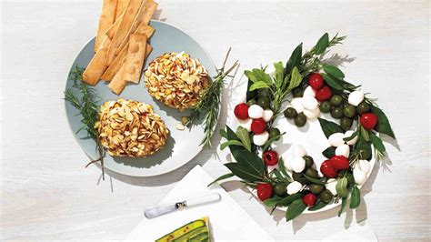 christmas decorated appetizer ideas easy recipes martha stewart