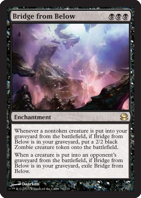 mtg enchantment deck modern bridge from below from modern masters spoiler