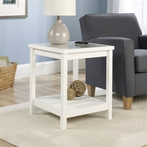 white end tables for living room end table in soft white 416136