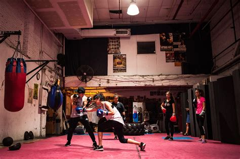 fights   weekly boxing class  girls