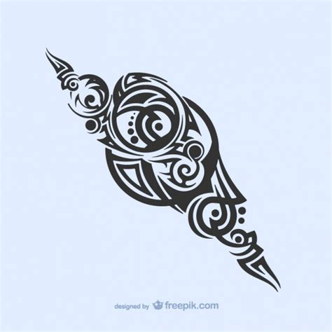 tribal decoration tattoo vector