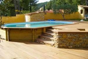 amenagement de piscine hors sol de nombreuses With terrasse bois avec piscine 9 habillage piscine autoporte intex piscines plages
