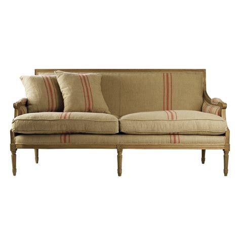 Settees On Sale by St Germain Style Stripe Linen Louis Xvi Sofa Sofa