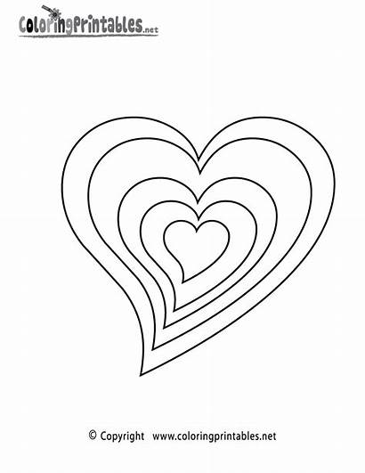 Coloring Hearts Pages Printable Colouring Heart Sheets