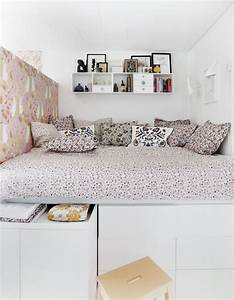 Diy Bett Mit Stauraum : diy bed inspired by ikea bedroom bett stauraumbett und bett mit stauraum ~ Pilothousefishingboats.com Haus und Dekorationen