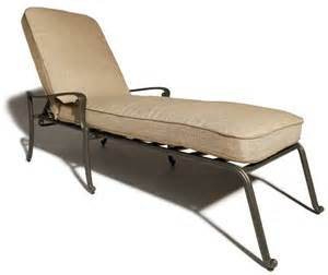 strathwood st thomas cast aluminum chaise lounge with