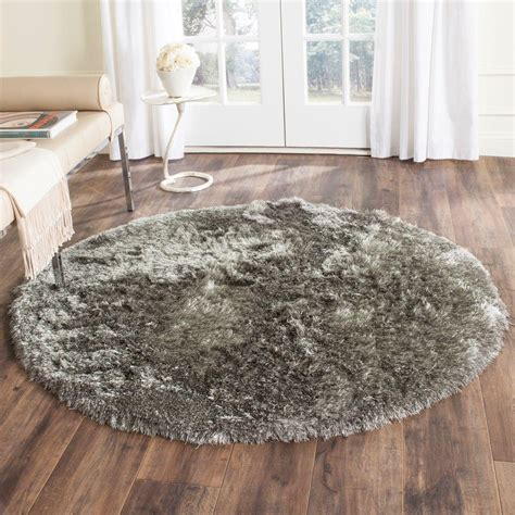 silver area rug safavieh shag silver 9 ft x 9 ft area rug