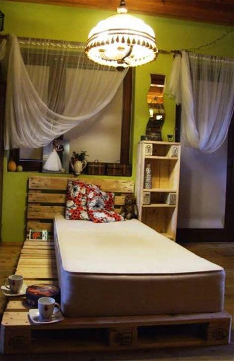 pallet bed  storage ideas pallet furniture plans