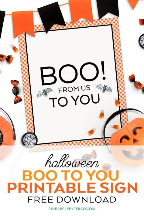 halloween printables youve  booed  images