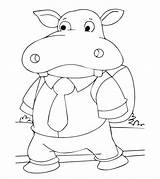 Hippo Coloring Pages Hippopotamus Printable Student Going Cute Momjunction Toddlers Animals Animal Popular Categories sketch template