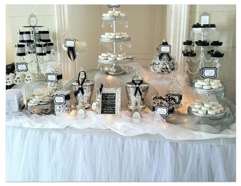 black and white candy table black and white candy bar idea sweet 16 ideas