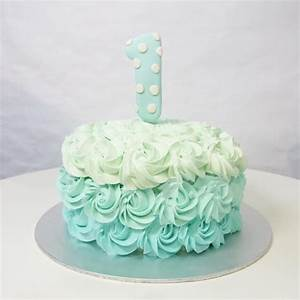 Ombre Rosette Smash Cake – Corine and Cake