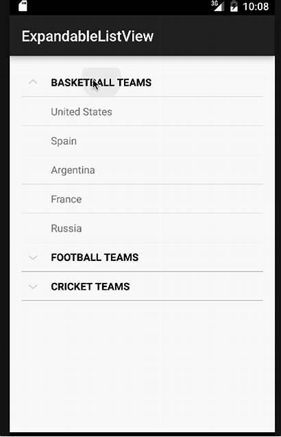 Android Expandablelistview Example Expandable Tutorial Journaldev App