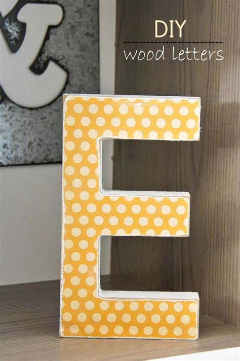 diy decorative wood letters