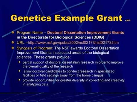 Doctoral Dissertation Improvement Nsf by 2005 Nsf Doctoral Dissertation Improvement Grant