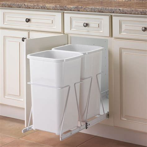 pull out trash cabinet real solutions for real life 19 in h x 11 in w 23 in d