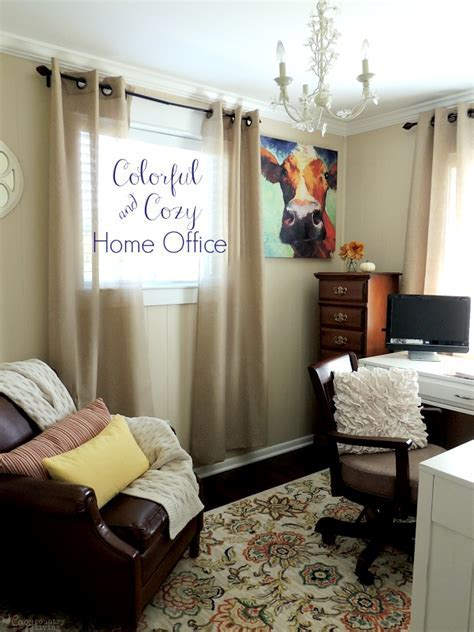 Colorful & Cozy Home Office   Cozy Country Living