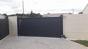 Installateur De Portail Motorisé : pose d 39 un portail aluminium coulissant motoris a izon installateur de portail sur mesure ~ Farleysfitness.com Idées de Décoration