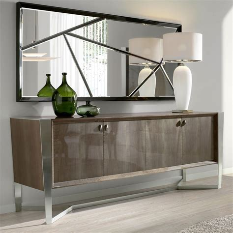 Modern Sideboard by Collection Modern Veneer And Chrome Buffet Sideboard