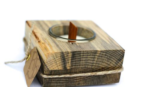 Pine Wooden Candle Holder
