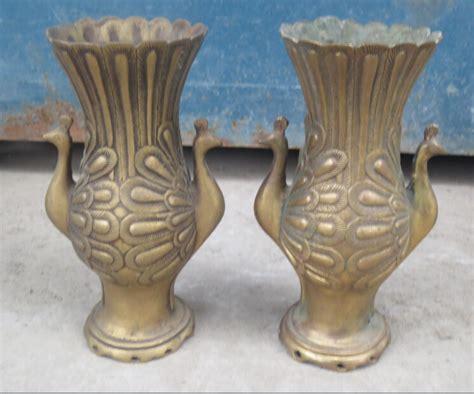 antique brass vase value a pair antique imitation metal crafts vases brass 4079