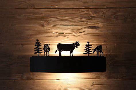 applique montagna lade da montagna applique a schermo mucche e pini