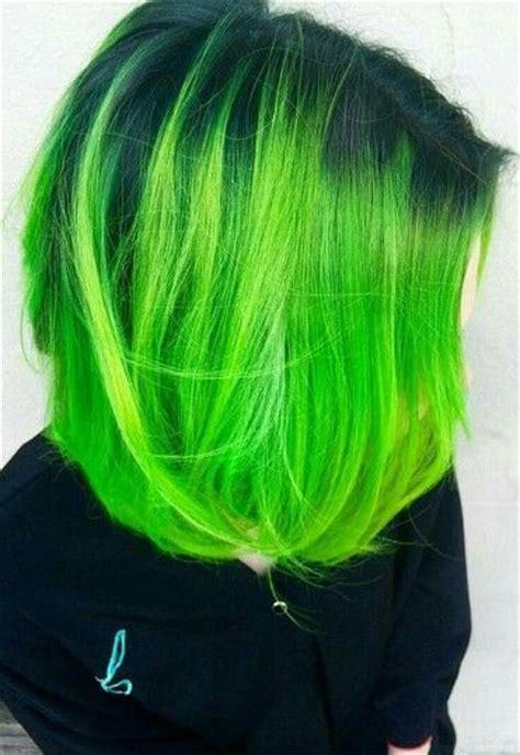 Best 25 Green Hair Colors Ideas On Pinterest