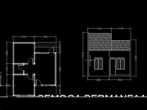 tutorial autocad membuat section tampak depan rumah