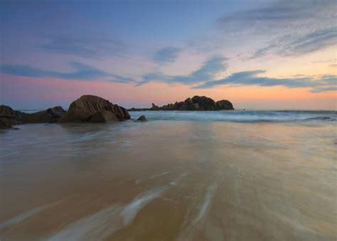 stock photo  beach bora bora flow