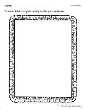 drawing  family preschool basic skills drawing