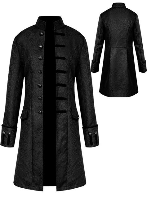 mens vintage tailcoat jacket goth long steampunk formal
