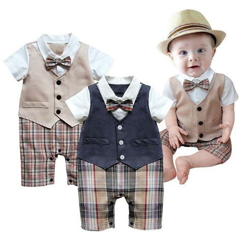 Baby Suit Newborn Romper Boys Outfit Kids Clothes Boy Clothing Kid Party Outfits | eBay