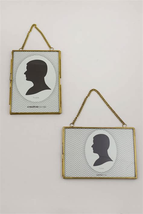 hanging double glass picture frame xin