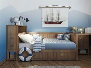 Decoration Chambre Style Marin : quelle peinture pour une chambre de gar on 27 couleurs ~ Zukunftsfamilie.com Idées de Décoration