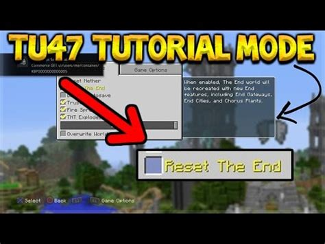 Minecraft Xbox 360 + Ps3 Tu47 Update  New Tutorial Mode