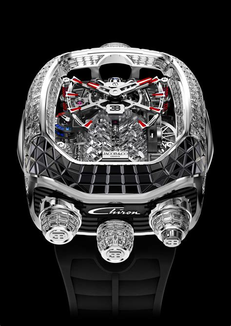 In addition to the sapphire crystal, the copy watches online sales add the titanium material to enhance the metal feeling. Jacob & Co. x Bugatti Chiron Tourbillon timepiece