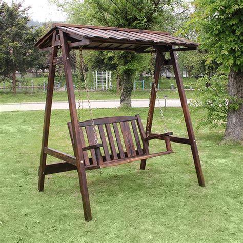 chaise balancoire balcon extérieur bois conservateur parc swing carbure