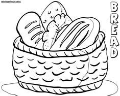 coloring pages bread  coloring pages