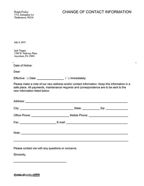 landlord introduction ez landlord tenant contact information form template ten taboos about New