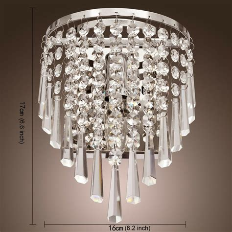 2pcs modern crystal wall chandelier wall light lighting