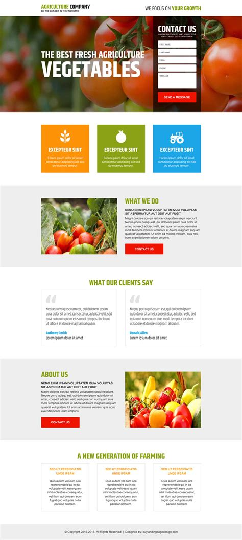 best landing page designs to attract new customers