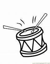 Coloring Pages Drum Drums Colouring Clipart Printable Music Percussion Cliparts Print Clip Template Coloringpages101 Library Templates Number Favorites sketch template