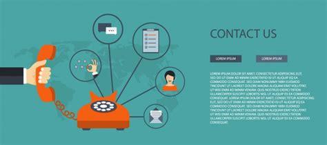 Contact Us Template Free by Contact Us Banner Template Vector Free
