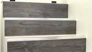 du stratifie sur les escaliers pose du profile d With peindre des escalier en bois 3 metamorphoser un escalier poser des contremarches