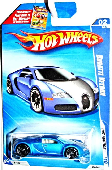 Vind fantastische aanbiedingen voor bugatti veyron hotwheels. Hot Wheels 2010 Bugatti Veyron HW Hot Auction 1:64 Scale Satin Blue #160/240 | Hot wheels toys ...